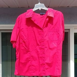 Basic Edition Women's Button Down Blouse.